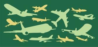 Clipart di progettazione di vettore di aerei commerciali Immagini Stock