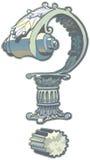 Clipart di Roman Architecture Question Mark Vector Fotografia Stock Libera da Diritti