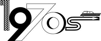 clipart di stile degli anni 70 Immagini Stock Libere da Diritti