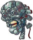 Clipart di vettore del cranio del robot Fotografie Stock