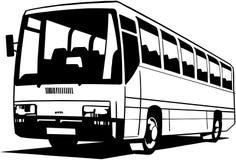 Clipart di vettore del fumetto del bus della città Fotografia Stock