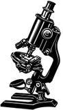 Clipart di vettore del fumetto del microscopio di scienza Fotografia Stock