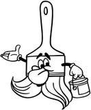 Clipart di vettore del fumetto del pennello Fotografie Stock