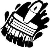 Clipart di vettore del fumetto del pennello Fotografia Stock