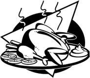 Clipart di vettore del fumetto del pollo Immagini Stock Libere da Diritti
