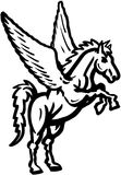 Clipart di vettore del fumetto dell'unicorno Fotografia Stock