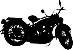 Clipart di vettore del fumetto della bici del motociclo Fotografia Stock