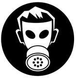 Clipart di vettore del fumetto della maschera del veleno Immagini Stock Libere da Diritti