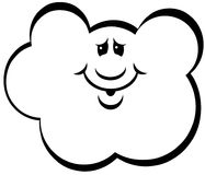 Clipart di vettore del fumetto della nuvola Fotografia Stock Libera da Diritti