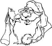 Clipart di vettore del fumetto di Santa di Natale Fotografia Stock