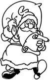 Clipart di vettore del fumetto di Santa di Natale Fotografie Stock