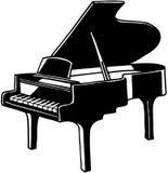 Clipart di vettore dello strumento musicale del pianoforte a coda Fotografia Stock