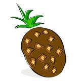 Clipart do coco no fundo branco Fotos de Stock Royalty Free