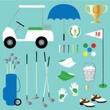 Clipart do golfe Imagens de Stock