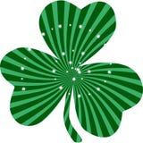 Clipart do trevo do verde do dia do ` s de St Patrick Imagem de Stock Royalty Free
