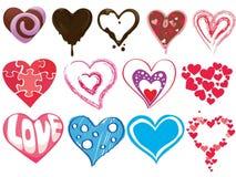 Clipart dos corações Fotografia de Stock Royalty Free