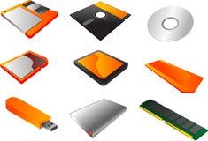 Clipart dos suportes de memória ilustração stock
