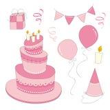 Geburtstags-Mädchen-Satz Stockfoto