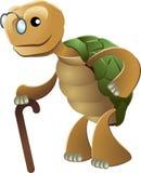 Clipart of elderly tortoise Royalty Free Stock Photos