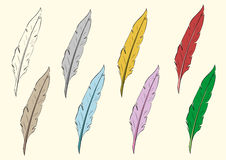 Clipart feathers Stock Photos