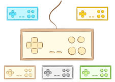Clipart with gamepads Stock Photo