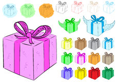 Clipart with gifts Stock Images