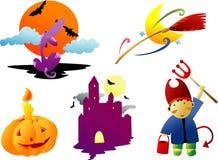 clipart halloween Arkivfoton