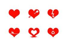 Clipart hearts Royalty Free Stock Photos