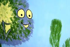 Clipart heureux de monstre de mer Images libres de droits