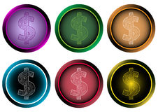 Clipart icon with dollar Royalty Free Stock Photos