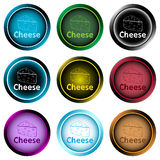 Clipart icons symbol sketch cheese Stock Images