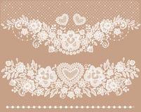 Clipart (images graphiques) blanc de dentelle illustration stock
