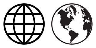 Clipart (images graphiques) d'icône de globe du monde illustration libre de droits