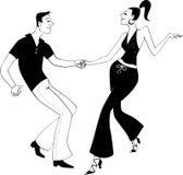 Clipart (images graphiques) de danseurs d'oscillation de côte ouest Photos stock