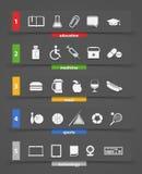Clipart (images graphiques) différent de graphismes Image stock
