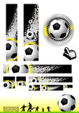 Clipart (images graphiques) du football Photographie stock