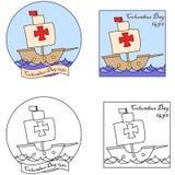 Clipart (images graphiques) heureux de Columbus Day Image stock