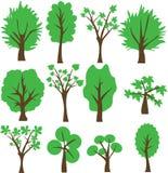 Clipart (images graphiques) réglé d'arbre de vecteur illustration stock
