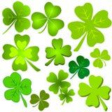 Clipart (images graphiques) vert assorti de lame de trèfle Photos libres de droits
