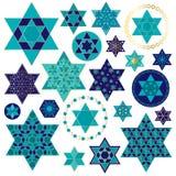 Clipart juif d'étoile d'or bleu illustration de vecteur