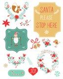 Clipart lindo de la Navidad Foto de archivo