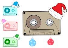 Clipart mit Weihnachtspatronen stock abbildung