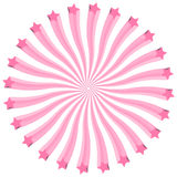 Clipart monocromatico di scoppio delle stelle di rosa 3D Fotografie Stock Libere da Diritti