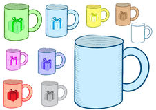Clipart of a mug with gift Stock Photo