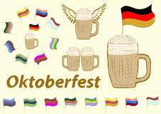 Clipart of Oktoberfest Royalty Free Stock Photo