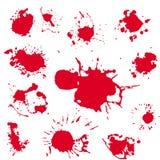 Clipart réaliste de vecteur de tache de sang Peinture de rouge d'éclaboussure Image libre de droits