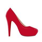 Clipart rojo del zapato Fotografía de archivo libre de regalías