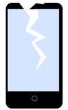 Clipart rotto di vettore del cellulare illustrazione di stock