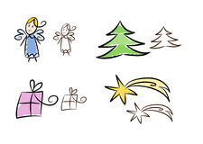 Clipart set: Christmas Stock Photo