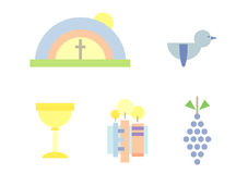 Clipart Set: Holy Communion Royalty Free Stock Images